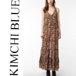Urban Outfitter Kimchi Blue Floral Maxi Dress F3